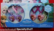 DISNEY FROZEN BEST FRIENDS JEWELRY SET NECKLACES & BRACELETS ANNA ELSA FROJW(PZ)