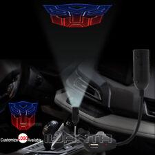 Transformers Autobot Logo Cigarette Lighter Car LED Laser Projector Shadow Light