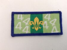 Scouts Birthday Year 4 Badge.Cloth.2.5x5.5 cms.