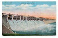 1948 American Falls Dam Idaho ID Linen Postcard