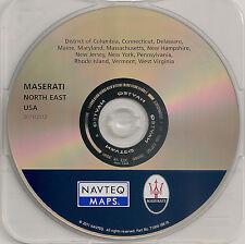Update 2004-2012 Maserati Quattroporte Navigation CD Map Cover North East Region