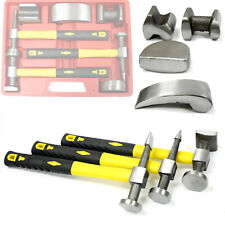 7pc Heavy Duty Drop Forged Hammer & Dolly Tool Kit for Fender Auto Body Repair