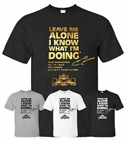 Mens Boys Girls Unisex T-Shirts Kimi Raikkonen Leave Me Alone F1 Lotus GP
