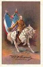 Original early 1900s French Postcard: Buffalo Bill's Wild West Show chromolitho