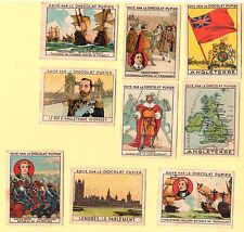 CHROMO SERIE COMPLETE ANGLETERRE IMAGE CHOCOLAT PUPIER  OLD TRADE CARDS