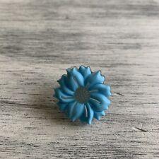 Large Blue Flower Jibbit Charm For Crocs