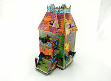 NEW VINTAGE TRICK OR TREAT HOUSE HAUNTED CANDY BOX HALLOWEEN