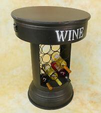 Bartisch Stauraum unter Platte Eisen Bistrotisch vintage Weinregal Tisch MU305-a