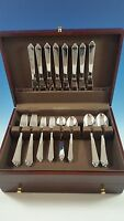 NEW SET OF PYRAMID STAINLESS STEEL BY GEORG JENSEN SERVICE FOR 8