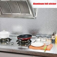Aluminum Foil Sticker Self Adhesive Oil-proof Waterproof 40x200cm Kitchen Wall