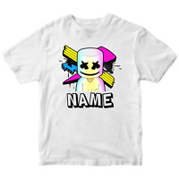 Marshmello DJ Funny Kids Children's T-Shirt Gift Present Cool Music Inspired Tee