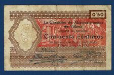 VILLENA (ALICANTE). 50 CÉNTIMOS. 1937. SERIE B
