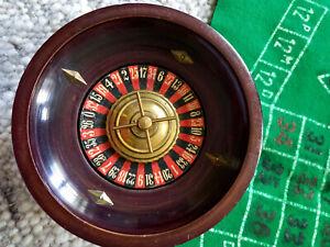 Schöner alter antiker Roulettekessel Holz Sammlerstück Tuch als Zugabe
