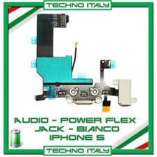 FLEX RICARICA DOCK MICROFONO AUDIO Per Apple IPHONE 5 Flex BIANCO RICAMBIO