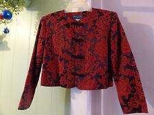 Beautiful Norton McNaughton Black Red  Asian style short  Blazer jacket 8P NWT