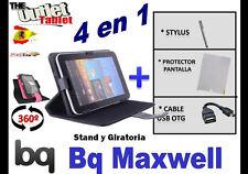 "PACK FUNDA 360º TABLET BQ MAXWELL 7"" + PROTECTOR + STYLUS + CABLE USB OTG"