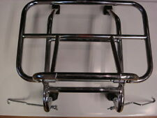 Vespa or Lambretta Front Folding Carrier Rack Chrome Cuppini Long Legs (3AA201)