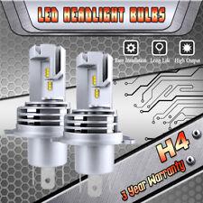 H4 9003 HB2 6000k SUPER WHITE ZES LED Headlights Bulbs Kit High Low Beam Canbus