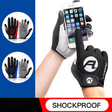 Mens Full-Finger Riding Cycling Gloves Shock-Absorbing Breathable Sport Gloves