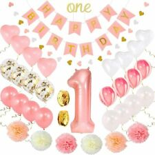 Birthday Decorations Baby Girl 1st Birthday Party Supplies One year old birthday