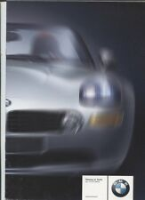N°9528 / catalogue en français  gamme BMW juillet 2000 roadster Z8