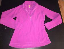 Lucy Activewear Purple Fleece 1/4 Zip Pullover Womens Sz XS Warm Outdoors