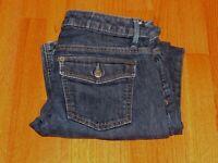 Women's BANANA REPUBLIC Dark Blue Stretch Denim Jeans Size 6 S 30 x 28