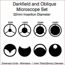 32mm Microscope Darkfield and Oblique Illumination Set
