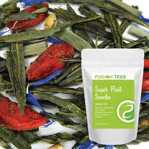 Super Fruit Sencha Green Tea With Goji Berries - Loose Leaf Blend - Fusion Teas