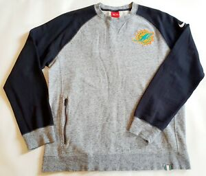 Men' nike NFL Miami Dolphins Split Graphic Crew Neck Sweater  Charcoal large