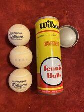 Vintage wilson championship tennis balls And Tin