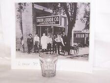 Pre-Prohibition Embossed Letters Panel Shot Glass Union Liquor Co. Hinton, W.Va.