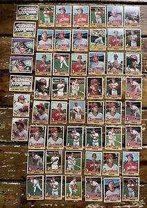 1976 Topps Baseball HUGE Lot of 55 Cincinnati Reds MLB Trading Cards EXCELLENT