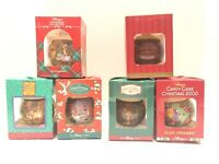 Vtg Disney Winnie The Pooh 94 95 97 98 99 00 Lot Of 6 Glass Christmas Ornaments