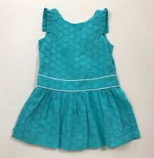 NWT JANIE AND JACK Teal Garden Bow Back Dress Size 2T
