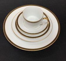 Faberge Capitole 5 Piece Set - 4 Plates 1 Cup - New Fine China Porcelain
