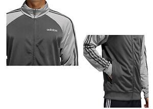 Adidas Men's Essentials 3 Stripe Tricot Track Jacket Black/White or Grey S - XL
