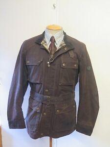 "Belstaff Roadmaster Wax Cotton Motorcycle Biker Jacket XL 42"" Euro 52 Brown"