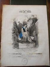 Partition Sheet Music 19 ème SiècleL'eau qui parle Carulli Eau Forte C Nanteuil