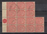 Mauritius KGV 1926 10c Control Block Of 14 CDS VFU J7237