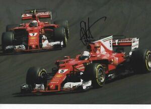 Sebastian Vettel signed photograph FORMULA 1 Budapest GP 2017 + proof