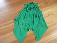 LADIES GORGEOUS GREEN POLYESTER SLEEVELESS 2 LAYER TOP BY H&M SIZE EUR 40 12/14