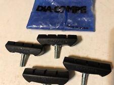 Set Of 4 Dia-Compe Black Threaded 984 Mountain Bike Brake Pads OPC25K