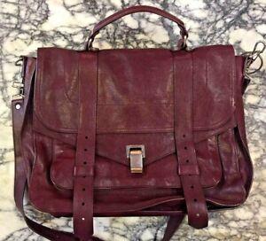 PROENZA SCHOULER  PS1 Large Lux Leather Bordeaux Satchel/Crossbody
