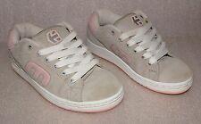 ETNIES CALLICUT W'S PINK GRAY WHITE Suede Skate Shoes Women's Size W7