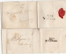 # 1797/8 2 WRAPPERS COUPAR FIFE POSTMARKS TO KIRKCALDY 8d & 1/- POSTAGE CHARGES
