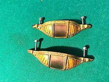 MATCHING 1930 WATERFALL DESIGN DRESSER BUREAU DRAWER PULLS