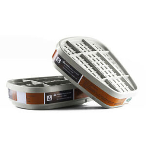 2pcs 6001cn Organic Vapor Respirator Filter Cartridge For 6200 7502 Gas Mask