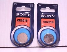 Lot 2 Sony CR2016 3V Lithium Button/Coin/Cell Battery 1-pk by 2022 Genuine NIP