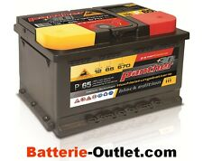 Autobatterie Starterbatterie Panther Black Edition +30%  12V 65Ah 570A P+65T
